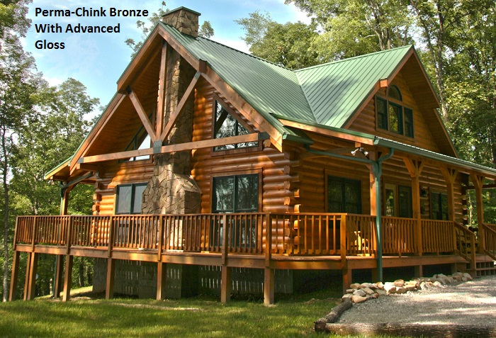 Perma chink exterior stain color gallery for Log home pictures exterior