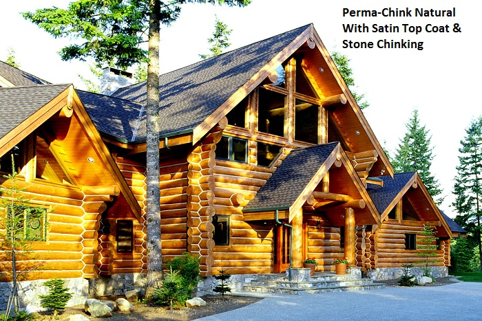 Perma chink exterior stain color gallery for Chinking log cabin
